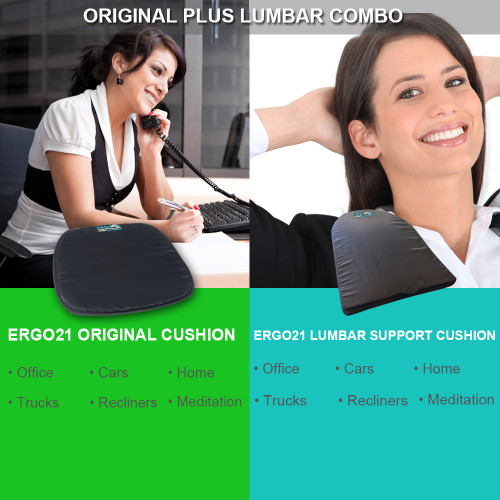 Ergo21 - Original and Lumbar combo cushions