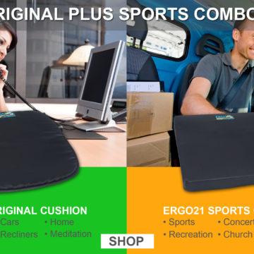 Ergo 21 Sports Cushion better than gel seat cushion or foam